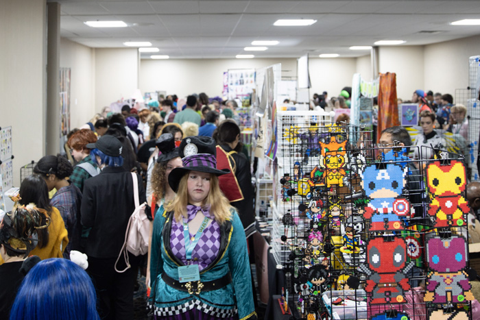 Join our showcase of local creators selling original artwork, prints, crafts and non-commercial goods in our Artist Alley.